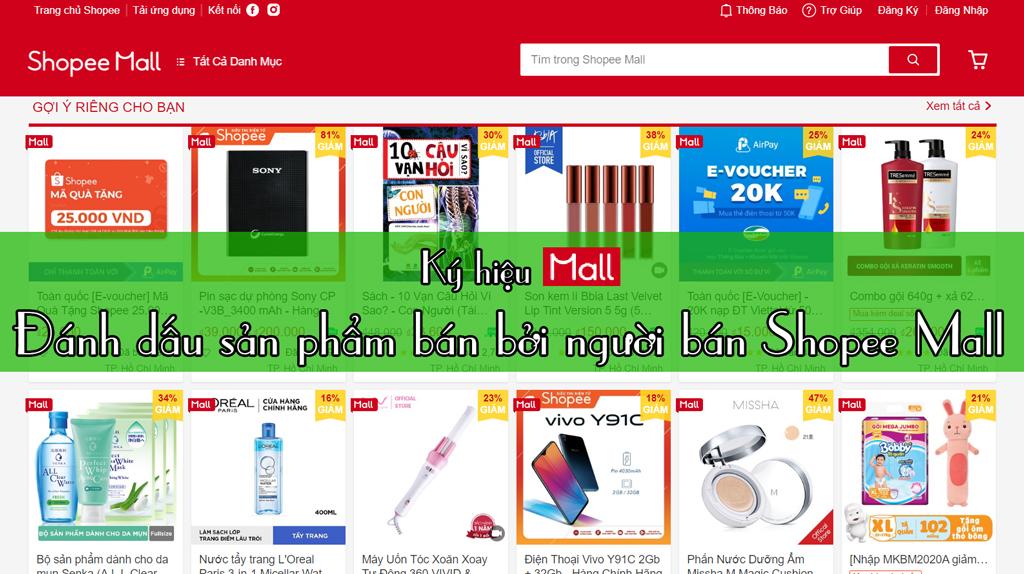 Người bán Shopee Mall - Shopee Mall là gì?