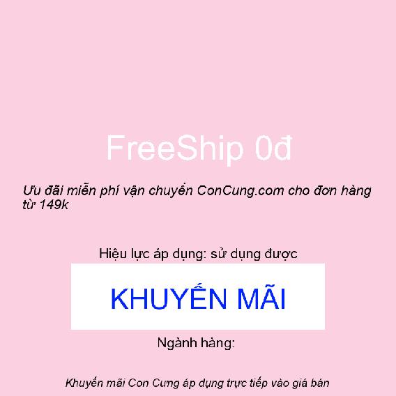 Ưu đãi miễn phí vận chuyển ConCung.com cho đơn hàng từ 149k