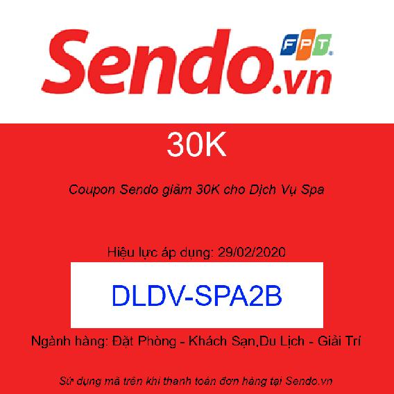 Coupon Sendo giảm 30K cho Dịch Vụ Spa