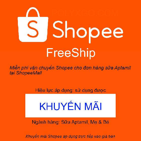 Miễn phí vận chuyển Shopee cho đơn hàng sữa Aptamil tại ShopeeMall