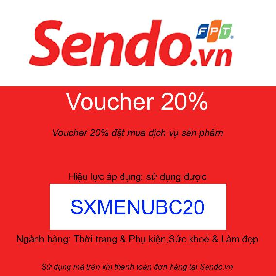 Voucher 20% đặt mua dịch vụ sản phẩm