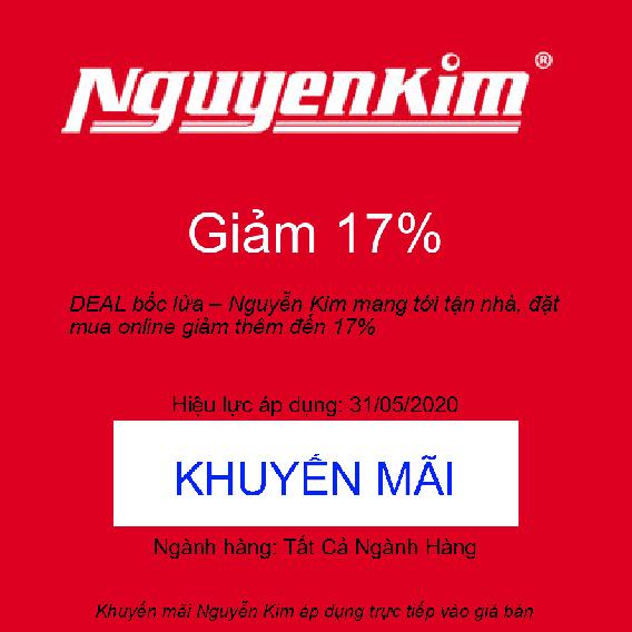 DEAL bốc lửa – Nguyễn Kim mang tới tận nhà, đặt mua online giảm thêm đến 17%