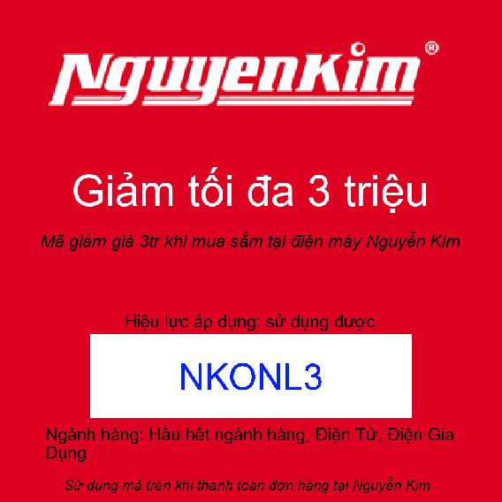 Mã giảm giá 3tr khi mua sắm tại điện máy Nguyễn Kim