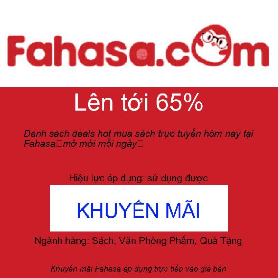 Danh sách deals hot mua sách trực tuyến hôm nay tại Fahasa 【mở mới mỗi ngày】