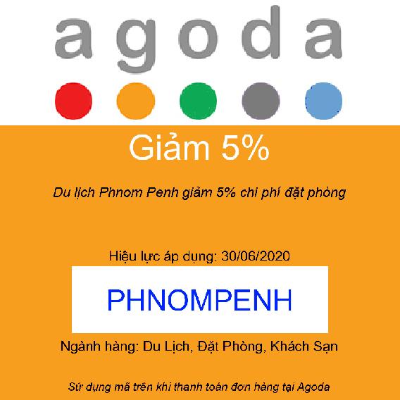 Du lịch Phnom Penh giảm 5% chi phí đặt phòng